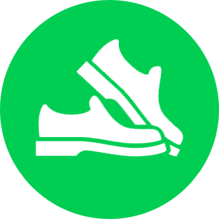 Gently worn shoes icon