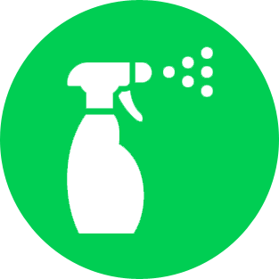 Household cleaning products icon