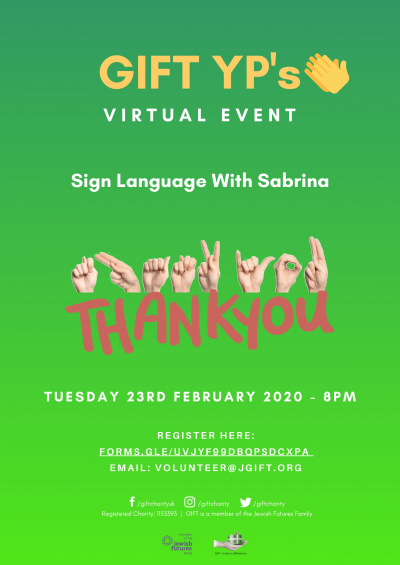 YP event - Sign Language with Sabrina
