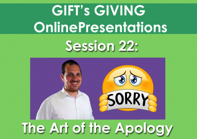 The Art of the Apology (Duration 22 minutes)